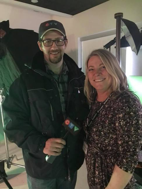 Organizer, Kim Annand, with CTV News Barrie