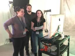 Organizer, Emma Morrone, with volunteers
